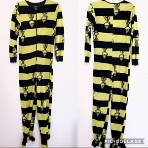 "Dr Seuss ""The Grinch"" Stripe Footie Pajamas …"